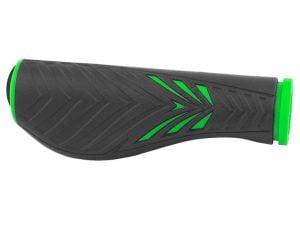 Chwyty FORCE ERGO gumowe czarno-zielone