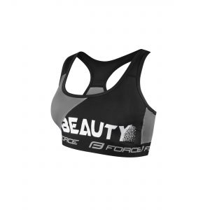 sports bra FORCE BEAUTY, black-grey XL