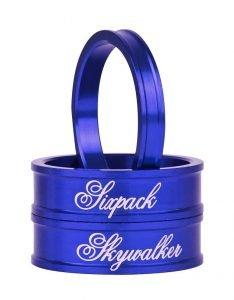 """SIXPACK Skywalker Zestaw podkładek 2x10mm i 1x5mm 1-1/8"""" niebieski"""