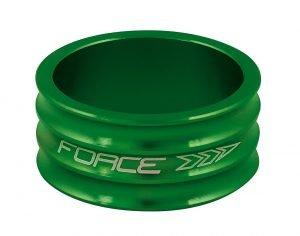 """Podkładka FORCE 1 1/8"""" AHEAD Al, zielona 15 mm / 9 g"""
