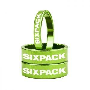 """SIXPACK Zestaw podkładek 2x10mm i 1x5mm 1-1/8"""" zielony"""