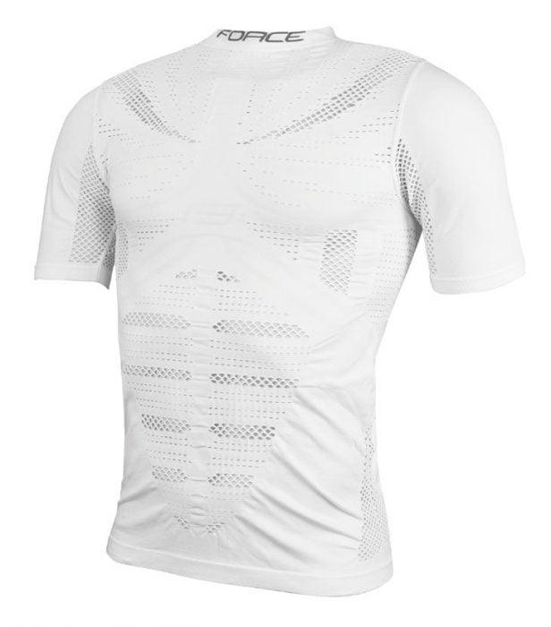 Bielizna termiczna/T-shirt F WIND, krótki rękaw, biała L-XL