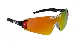 Okulary przeciwsłoneczne FORCE FLASH czarno-czerwone oprawki - szkła czarny laser