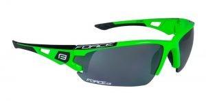 Okulary przeciwsłoneczne FORCE CALIBRE, fluo zielono-czarne oprawki - szkła czarny laser