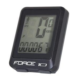 Licznik FORCE 10f przewodowy, czarny