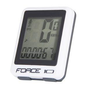 Licznik FORCE 10f przewodowy, biały