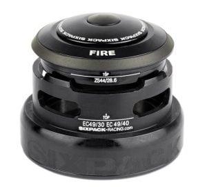 """SIXPACK Stery FIRE (2w1) 1-1/8"""" oraz 1.5""""-1-1/8"""" czarne"""