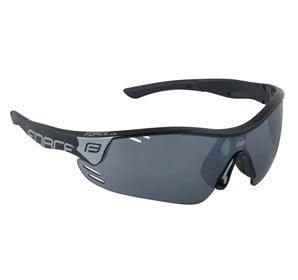 Okulary przeciwsłoneczne FORCE RACE PRO czarno-szare oprawki - szkła czarny laser